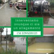 Svuotamento aree allagate - CM Ecoservizi