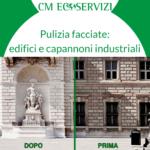 Pulizia facciate edifici e capannono - CM Ecoservizi